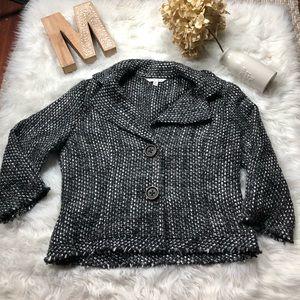 CAbi #686 Tweed Pea Coat Style Blazers